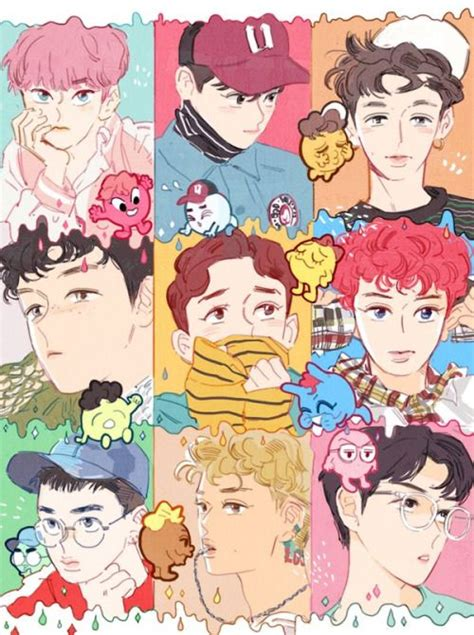 Exo Anime Wallpaper - exo lucky one fanart e o