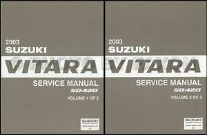 2003 Suzuki Vitara Repair Shop Manual Set Original