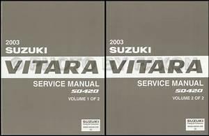 2003 Suzuki Vitara Repair Shop Manual Set Original