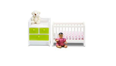 ledikant en commode in 1 lundby living baby ledikant en commode 602085 bentoys