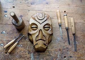 Woodworker Carves Marvelous Skyrim Dragon Priest Masks Out