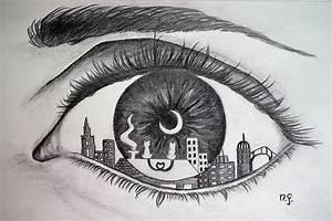 Dessin Facile Yeux : un oeil sur la ville dessin par nicole fodale le 17 avri nicole flickr ~ Melissatoandfro.com Idées de Décoration