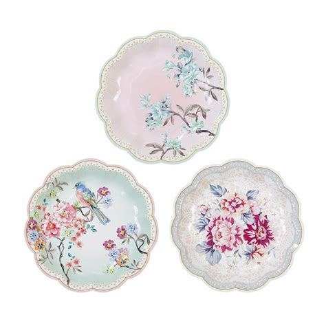 luxury vintage style afternoon tea party paper plates