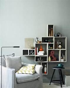 Grau Blaue Wand : wohnen mit farben wandfarbe rot blau gr n und grau sch ner wohnen wohnzimmer ~ Watch28wear.com Haus und Dekorationen