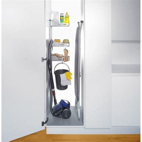 accessoire rangement cuisine système de rangement pour armoire à balai sesam 6356110