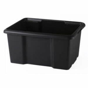 Grand Bac De Rangement : bac de rangement en plastique 15l coloris noir castorama ~ Teatrodelosmanantiales.com Idées de Décoration