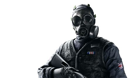 hd wallpaper rainbow  siege gas mask