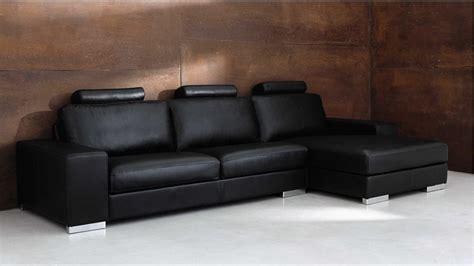 maison du monde canap d angle canapé d 39 angle 5 places en cuir noir daytona soldes