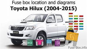 Fuse Box Location And Diagrams  Toyota Hilux  2004-2015