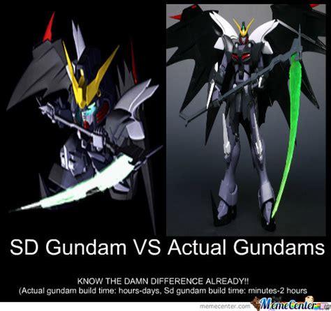 Gundam Memes - sd gundam vs actual gundams by brian benz 58 meme center