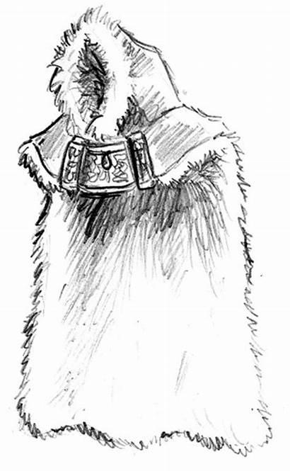 Cloak Fur Clipart Viking Cloaks Clip Cliparts