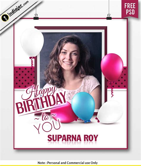 happy birthday wishes flyer psd template indiater