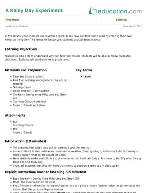 Lava Lamp Science Worksheet