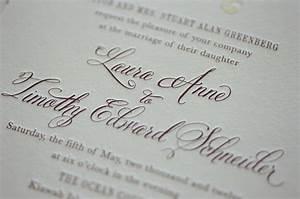 Letterpress Wedding Invitation with Belluccia Calligraphy