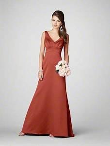 burnt orange bridesmaid dresses yuman dakren With burnt orange wedding dresses