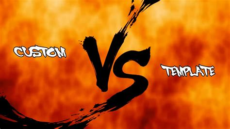 vs template adobe after effects sf4 style vs screen template
