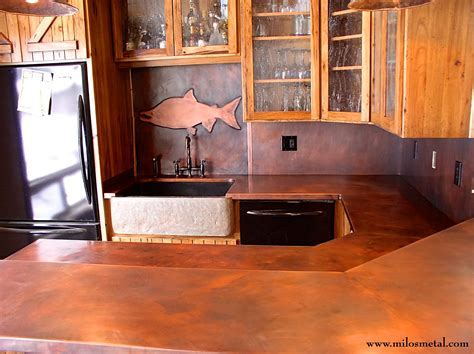 Countertops Copper   Milo's Art Metal