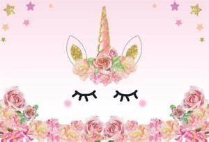5x3ft Unicorn Backdrop Sweet Birthday Party Pink Banner