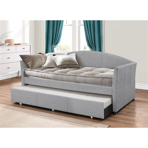 trundle day bed decor grey arched back day beds with trundle for white