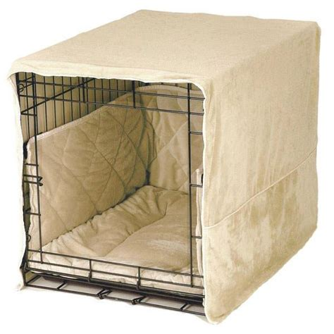 pet dreams plush dog crate set  cover bed bumper pad