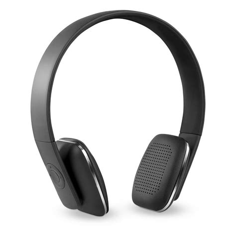 innovative technology rechargeable wireless bluetooth headphones with rubberized finish in black