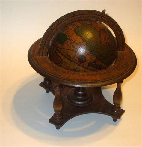 vintage petite wooden  world globe
