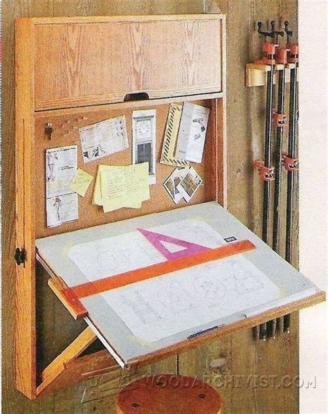 drafting table wall mounted wood projects woodworking