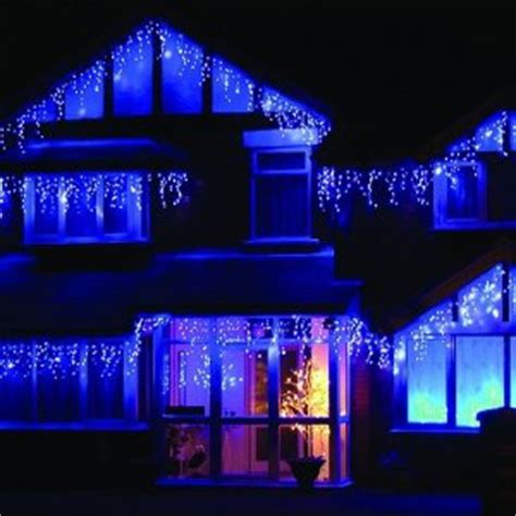 impressive   blue  white outdoor christmas lights