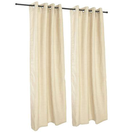 Sunbrella Drapes - sunbrella dupione pearl grommeted outdoor curtains