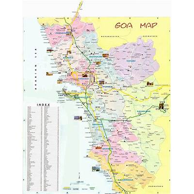 Large Goa Maps for Free Download and PrintHigh