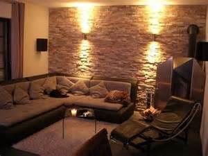 wohnung design graue wand wände im wohnzimmer mit bild