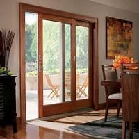 anderson patio doors Andersen 71 in. x 80 in. 400 Series Frenchwood Terratone Right-Hand Sliding Patio Door, Pine ...