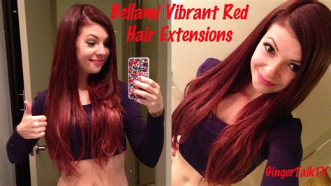 Bellami Vibrant Red Hair Extensions Review Youtube