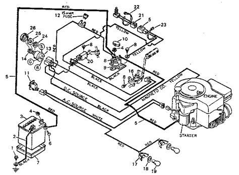 Craftsman Lt4000 Wiring Diagram by Craftsman Lawn Mower Parts Diagram Wiring Diagram
