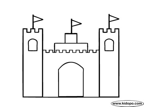 glass for crafts simple castle coloring page
