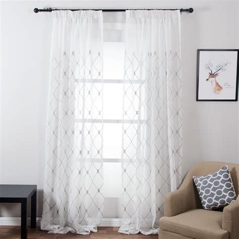 geometric pattern sheer curtains popular cafe curtains for bedroom buy cheap cafe curtains