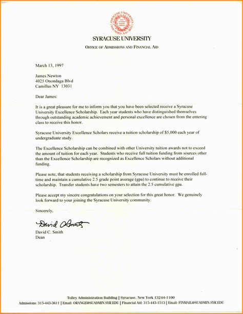 application letter scholarship grant request standard