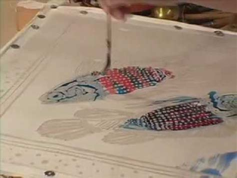 wax batik technique silk painting  jill kennedy