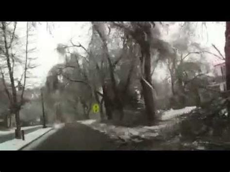 sioux falls sd april  ice storm damage youtube