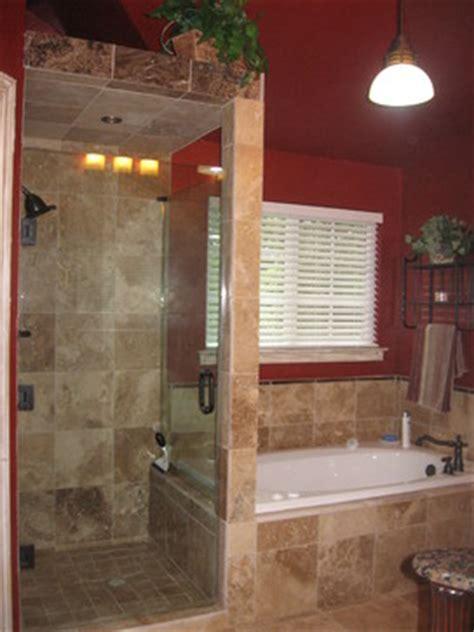 bathroom shower doors ideas bathroom designs no door shower walk in shower with frameless shower door and travertine