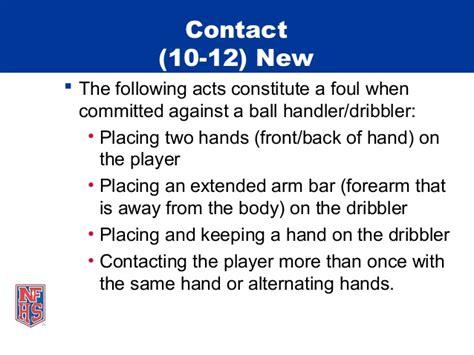 nfhs nchsaa basketball rules emphasis