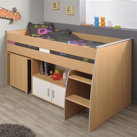 combine lit bureau junior lit combiné avec bureau quot gabriel quot 90x200cm marron
