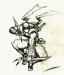 Ninja drawing by MrTuke on DeviantArt