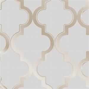 Tempaper Bronze Grey Marrakesh Wallpaper