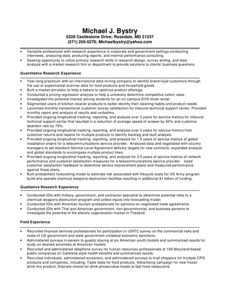 marketing analyst resume resume ideas