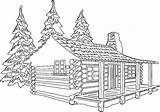 Log Drawing Cabin Coloring Pages Line Sheets Woods Cabins Colouring Drawings Clipart Sun Paintingvalley sketch template