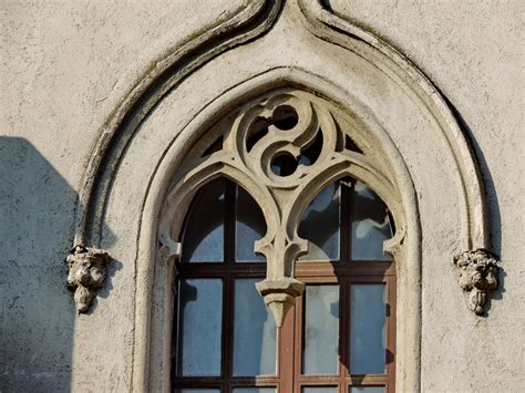 picture arabesque gothic window facade