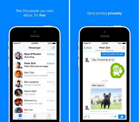 android messenger redesigned messenger released for android and ios