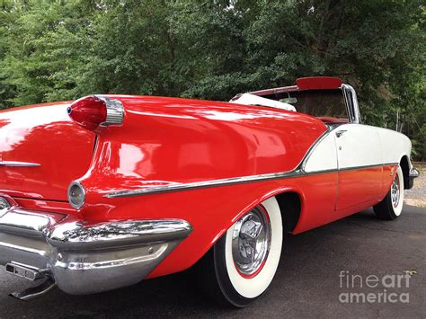 Vintage Convertible Cars by Vintage American Car And White 1955 Oldsmobile