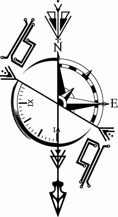 Tattoo Compass Kompass Tattoos Tatuaje Tatuajes Rose